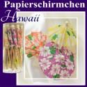 Papierschirmchen Hawaii, 24 Stück