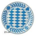 Pappteller Bayrisch Blau, 23 cm, 100 Stück