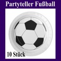Tischdeko-Partyteller Fußball, 10 Stück
