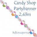 Candy Bar Partybanner, Sweet Shop, Partydekoration Geburtstagsparty Candy Shop