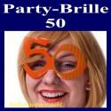 Party-Brille Zahl 50, zum 50. Geburtstag