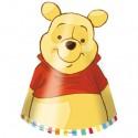 Partyhütchen Winnie Pooh, 6 Stück