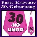 Party-Krawatte zum 30. Geburtstag, no limits, Pink