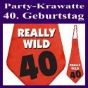 Party-Krawatte zum 40. Geburtstag, really wild, Rot