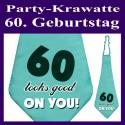 Party-Krawatte zum 60. Geburtstag, 60 looks good on you, Türkis