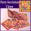 Partyservietten Clown, 20 Stück