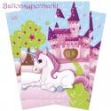 Unicorn Party-Tüten zum Einhorn Kindergeburtstag, 8 Stück