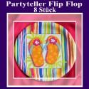 Flip Flop Partyteller Hawaii, 8 Stück