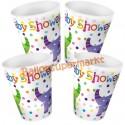 Partybecher Baby Shower Elefanten, 8 Stück
