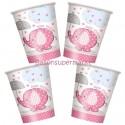 Partybecher Baby Shower, Pink, 8 Stück