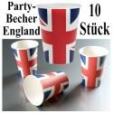 Partybecher England, 10 Stück