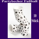 Partybecher Fußball 10 Stück Set