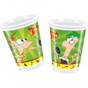 Phineas und Ferb Partybecher, 8 Stück