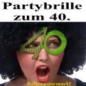 Party-Brille Zahl 40, zum 40. Geburtstag