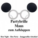 Partybrille - Maus - zum Aufklappen, Hen Party, Junggesellinnenabschied