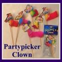 Partypicker Clown, 6 Stück