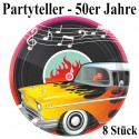 50er Jahre Partyteller, Partydekoration Mottoparty Fifties