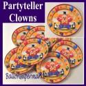 Partyteller Clown, 8 Stück