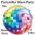 Partyteller Disco Party, 70er Jahre Disco-Fever, 8 Stück