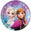 Frozen Northern Lights, Partyteller, 8 Stück, Elsa und Anna, Eiskönigin