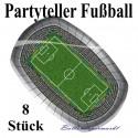 Partyteller Fußball 8 Stück Set