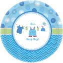 Partyteller Shower with Love Boy, Tischdekoration zur Babyparty