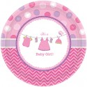 Partyteller Shower with Love Girl, Tischdekoration zur Babyparty