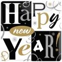 Silvester-Partyteller Happy New Year, 8 Stück