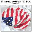 Partyteller USA, 8 Stück