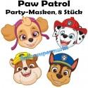 Paw Patrol Party Masken, 8 Stück