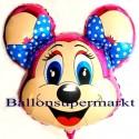 Luftballon Peggy Mouse, Folienballon mit Ballongas
