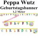 Peppa Wutz Geburtstagsgirlande Happy Birthday zum Kindergeburtstag
