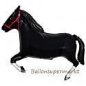 Pferd Luftballon ohne Helium, schwarz