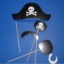 Photoprops, Pirat, Foto Requisiten, 4 Stück