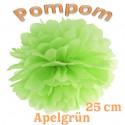 Pompom, Apfelgrün, 25 cm