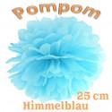 Pompom, Himmelblau, 25 cm