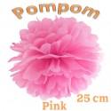Pompom, Pink, 25 cm
