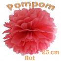 Pompom, Rot, 25 cm