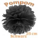 Pompom, Schwarz, 25 cm