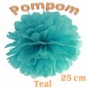 Pompom, Teal, 25 cm