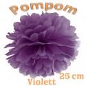 Pompom, Violett, 25 cm