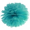 Pompom, Teal, 35 cm