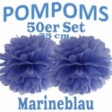 Pompoms, Marineblau, 25 cm, 50er Set