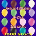 Luftballons, Latex 30cm Ø, 1.000 Stück / Bunt