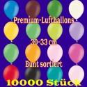 Luftballons, Latex 30cm Ø, 10.000 Stück / Bunt