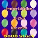 Luftballons, Latex 30cm Ø, 5.000 Stück / Bunt