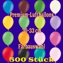 Luftballons, Latex 30cm Ø, 500 Stück / Farbauswahl