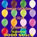 Luftballons, Latex 30cm Ø, 5.000 Stück / Farbauswahl á 1.000