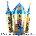 Luftballon Princess Castle, Folienballon ohne Ballongas