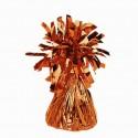 Ballongewicht, Halter für Luftballons mit Helium, Folienverzierung, Orange